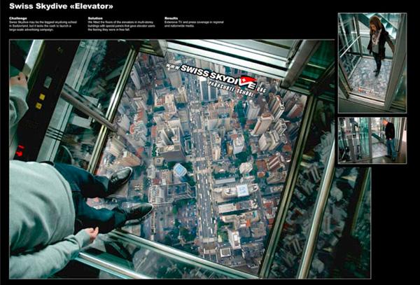 بازاریابی چریکی در کف آسانسور!